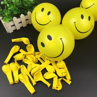 20pcs/lot 6inch Yellow Smiley Face Latex Balloons Air Balls Inflatable Wedding Party Decoration Birthday Party Float Balloons