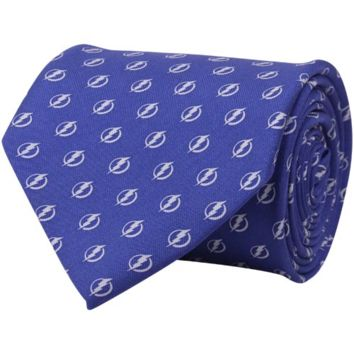 Vineyard Vines Tampa Bay Lightning Royal Blue Mini Logo Silk Tie
