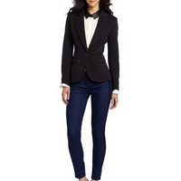 C. Luce Women's Ridge Knit Blazer