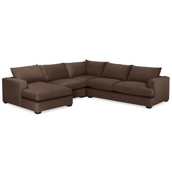 HAMPTON UPHOLSTERED 4-PIECE CHAISE SECTIONAL