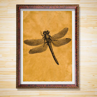 Dragonfly print Wildlife decor Animal poster