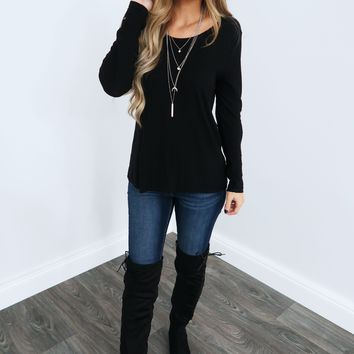 Chill Out Top: Black