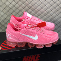 DCCK2 N804 Nike Air Vapormax Flyknit 2019 Nanotechnology Drop Plastic Shock Absorbing Slip-proof and Wear-resistant Sports Shoes Pink