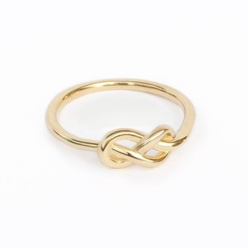Petite Infinity Knot Gold Ring, Infinity Wedding Band, unique wedding bands, Midi ring, gold ring, delicate infinity wedding ring