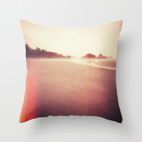 Technicolor Beach Dreams 2 Throw Pillow by Melissa Lund