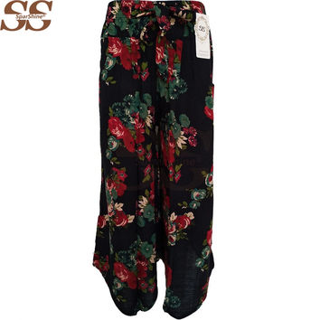 2017 Women Pants Cotton Linen Harem Pants Women Pantalon Femme Trousers Women Camouflage Casual Pants Women