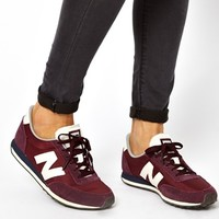 New Balance 410 Burgundy Suede And Mesh Sneakers