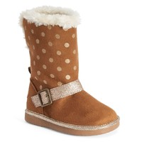OshKosh B'gosh Iris Toddler Girls' Polka-Dot Glitter Winter Boots