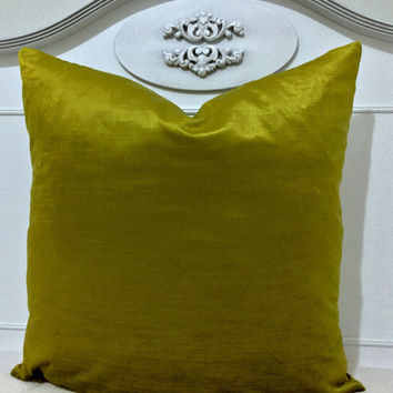 Lime Green Velvet Pillow Cover,Green Velvet Pillows,Throw Pillows,Decorative Pillows,Green Velvet Cushion Covers,Green Velvet Throw Pillows