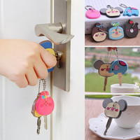 2016 SUPIN New Cute Cartoon Key Protect Chain Silicone Funny Girl Love Live Casual Balanced Key Cover Handbag  Car Accessories