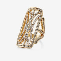 art deco pave cutout ring