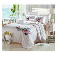Silk ink and wash painting Duvet Quilt Cover Sets Bedding Cover set 1.5M/1.8M Bed 01 White