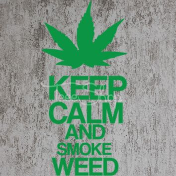 keep calm and smoke weed tshirt