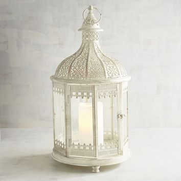Gazebo White Metal Lantern