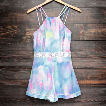 final sale - tie dye the watercolor romper
