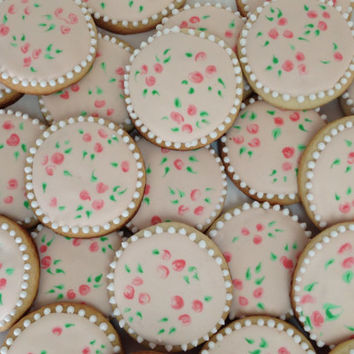 1 Dozen (12 count) royal icing decorated cookies