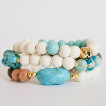 Turquoise Love Stretch Bracelet