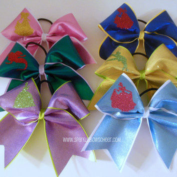 Princess Collection Inspired Large Cheer Bow by SparkleBowsCheer