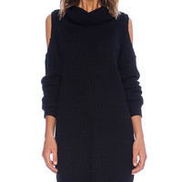 Line & Dot Keri Sweater Dress in Black