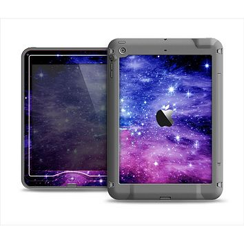 The Purple and Blue Scattered Stars Apple iPad Mini LifeProof Nuud Case Skin Set