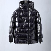 Moncler Men's Fashion Casual Cardigan Jacket Coat fashion down jacket black