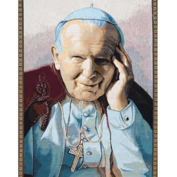 Pope John Paul II Papa Wojtyla Tapestry Wall Art Hanging