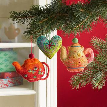 Tea Time Ornaments, Set Of 3