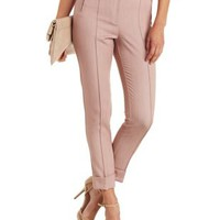 Violet Love & Air Cuffed Slim-Cut Trousers by Charlotte Russe