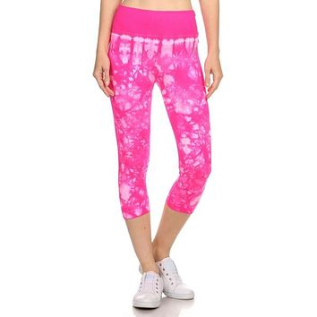 Pink Yoga Capri Athletic Leggings