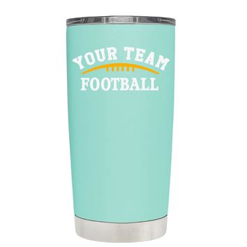TREK Custom Football Team on Seafoam 20 oz Tumbler Cup