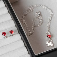 Houston Cougars Dayna Pro Crystal Drop Earring & Necklace Set - http://www.shareasale.com/m-pr.cfm?merchantID=7124&userID=1042934&productID=547697809 / Houston Cougars
