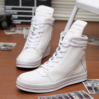 Fashion Casual Male Shoes Mens Sneakers Ankle Boots