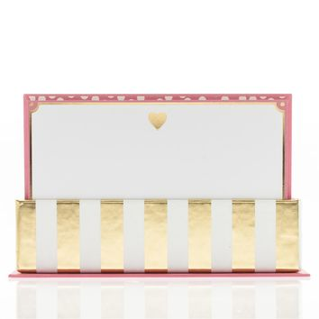 Gold Heart Flat Notes in Pink and Gold