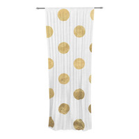 "KESS Original ""Scattered Gold"" Decorative Sheer Curtain"