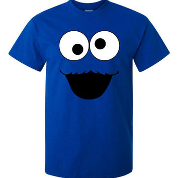 Cookie Monster Awesome Graphic Printed T Shirt Fun for All Ages Toddler Thru Adult Sizes It's COOKIE Time