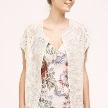 Indio Vest by Anthropologie in Cream Size: One Size Vests