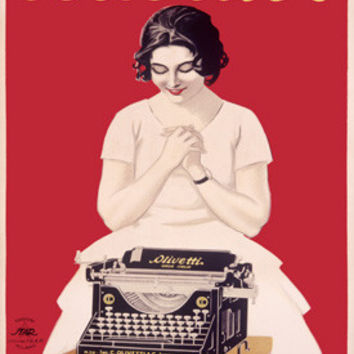 Olivetti Office Typewriter Advertisement Fine Art Print