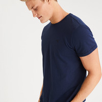 AE Slub Crew Neck T-Shirt, Navy