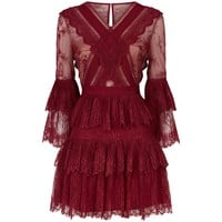 Self-Portrait Pleated Lace Dress | Harrods.com