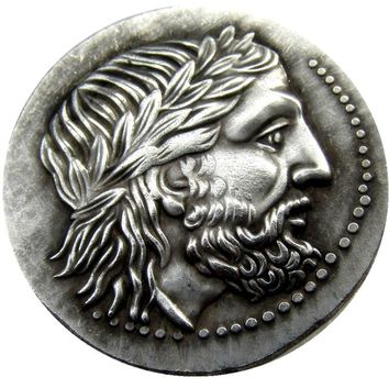 G(11)Rare Ancient Greek Silver Tetradrachm Coin of King Philip II of Macedon - 323 BC COPY COINS
