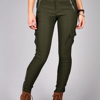 Utility Cargo Skinnys | Trendy Pants at Pink Ice