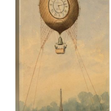 """Grvis Camille Balloon with clock face over Eif"" by ARTPICS Gallery"