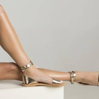 """Greek rose gold sandals """"Jonquil"""" and the studded straps adds the perfect flair to these shoes, ankle strap sandals"""