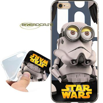 Funda Minion Star Wars Clear Soft Silicone Phone Cases for iPhone XS Max XR X 7 8 6 6S Plus 5S 5 SE 5C 4S 4 iPod Touch 6 5 Cover
