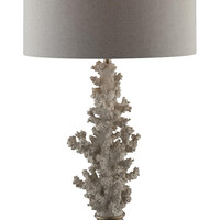 "Crestview Coral Gabels Table Lamp 31.5""Ht - CVAUP861"