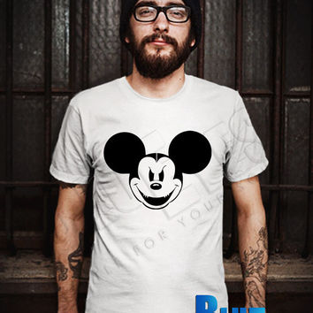 Mickey Angry Men T-Shirt - Mickey Face T-Shirt - Mickey Mouse T-Shirt - Disney Design T-Shirt for Men (Various Color Available)