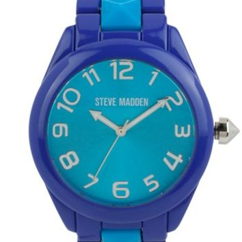Steve Madden Round Studded Bracelet Watch, 40mm