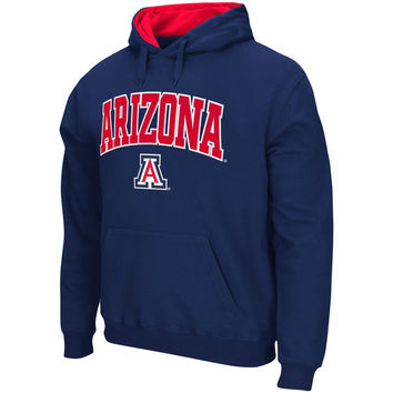 Stadium Athletic Arizona Wildcats Navy Arch & Logo Tackle Twill Pullover Hoodie