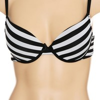 Black And White Striped Bra Size : 36B