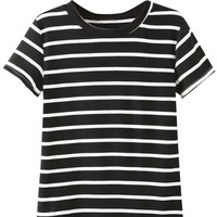 Black Stripe Short Sleeve Tee